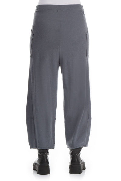 Grey Pure Wool Trousers