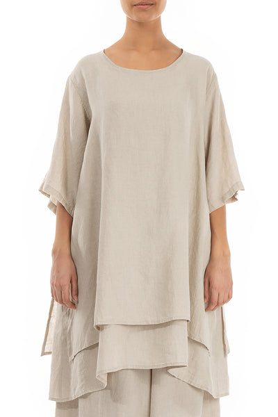 Layered Natural Linen Tunic
