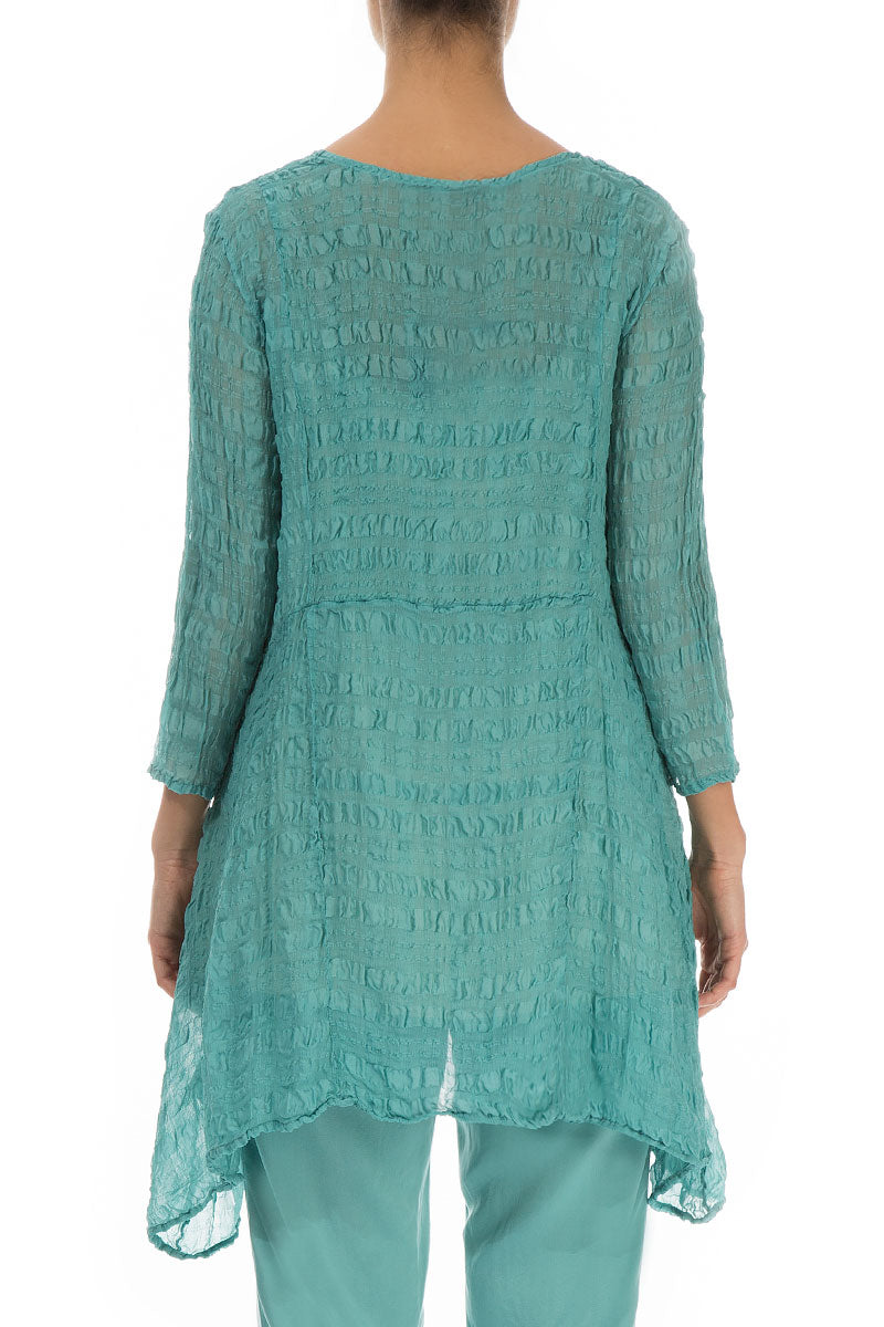 Light Aqua Green Silk Tunic