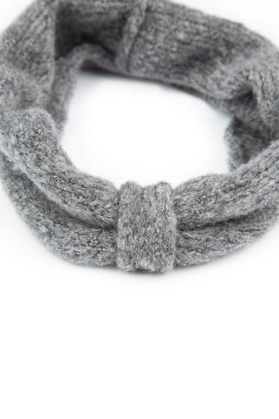 Light Grey Wool Headband