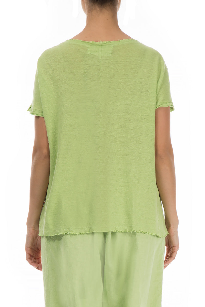 Lime Thin Linen Top
