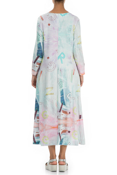 Long Graffiti Cotton Dress