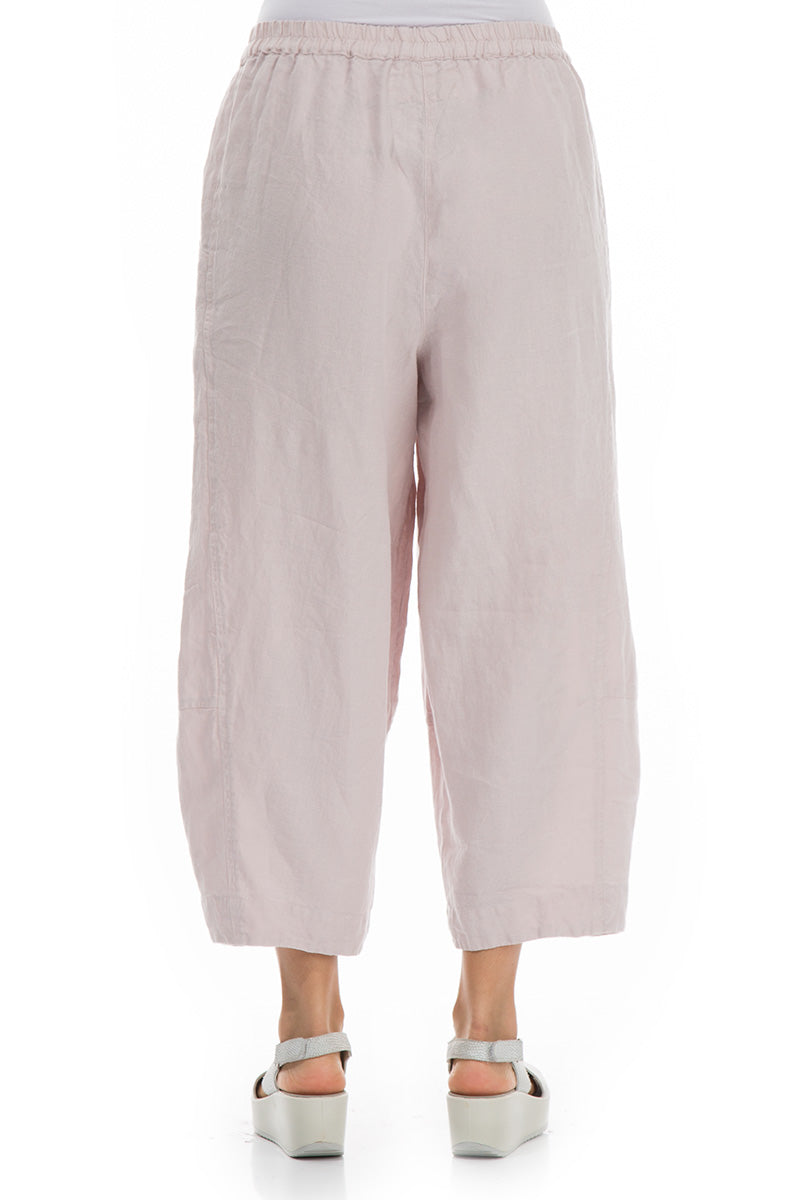 Loose Beige Linen Trousers