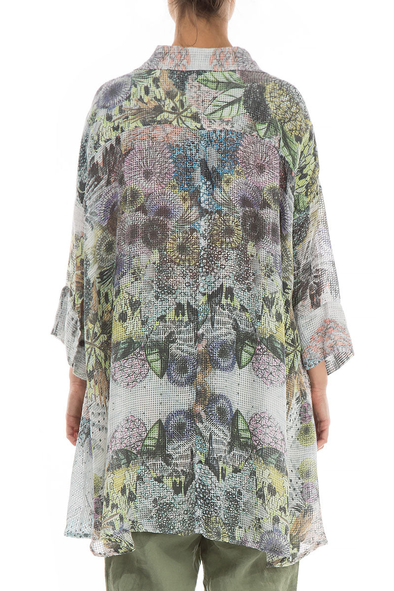 Loose Botanical Silk Rayon Shirt