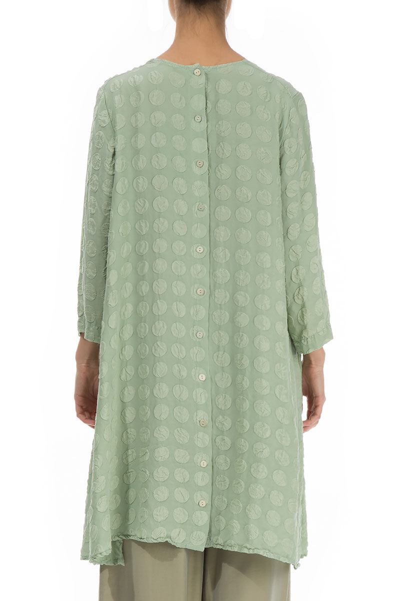 Loose Bubble Pattern Mint Tunic