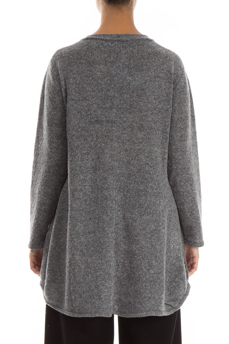 Loose Cosy Grey Wool Sweater