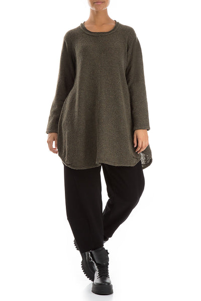 Loose Cosy Khaki Wool Sweater