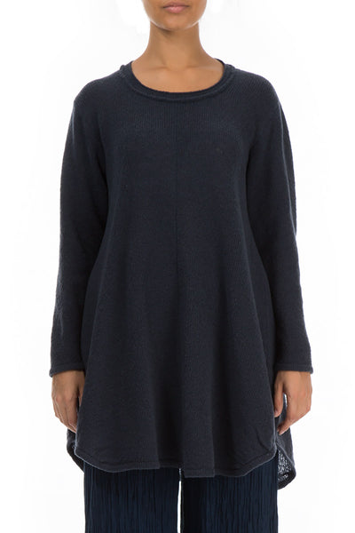 Loose Cosy Navy Wool Sweater