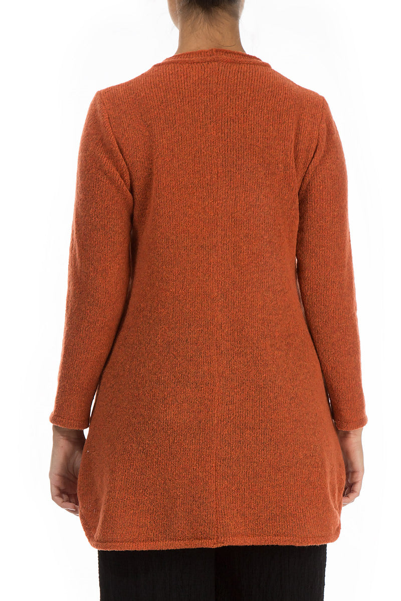 Loose Cosy Saffron Wool Sweater