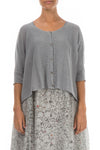 Loose Grey Linen Cardigan