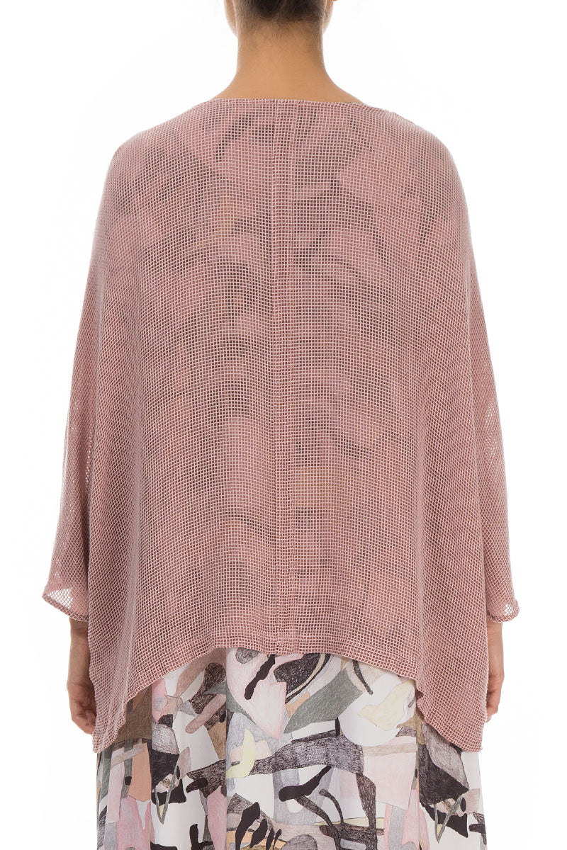 Loose Mesh Antique Rose Silk Jacket