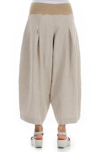 Loose Natural Linen Trousers - GRIZAS | Natural Contemporary Womenswear