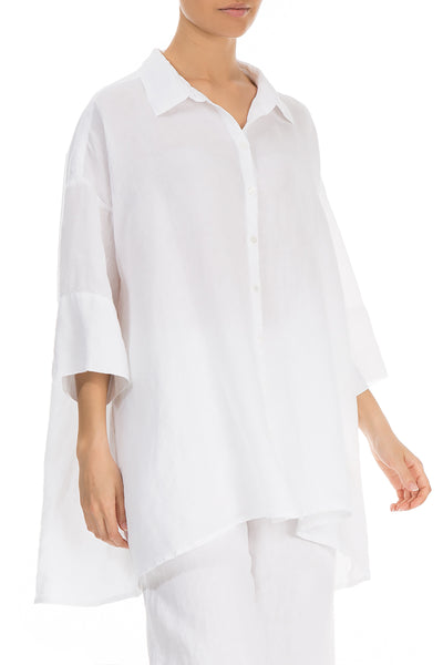Loose White Linen Shirt - GRIZAS | Natural Contemporary Womenswear