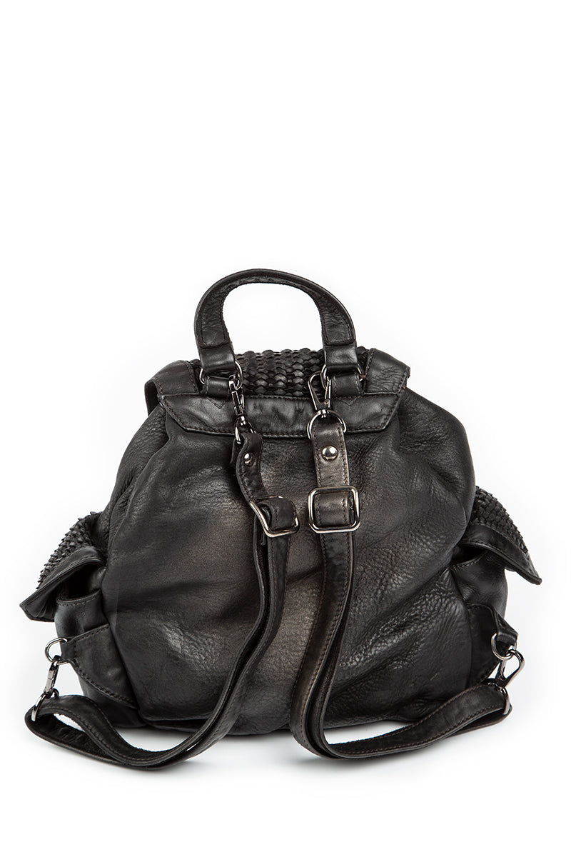 Borsa Anais Black Metal Backpack