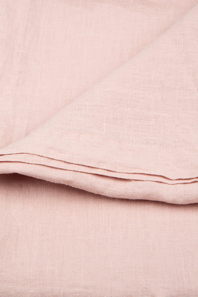Antique Rose Soft Linen Tablecloth