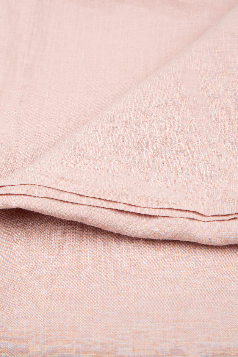 Light Pink Soft Linen Tablecloth