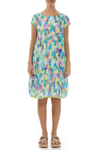 Midi Confetti Linen Dress