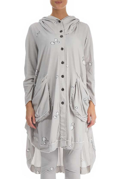 Printed Neutral Jersey Cotton Jacket