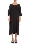 Minimalist Black Silk Bamboo Dress