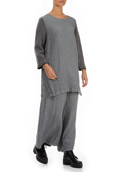 Minimalist Grey Wool Tunic