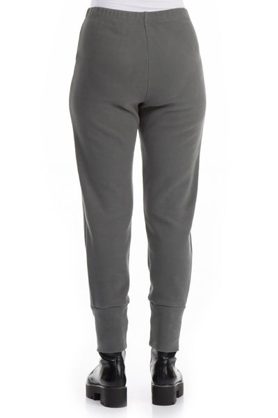 Narrow Jersey Grey Cotton Trousers