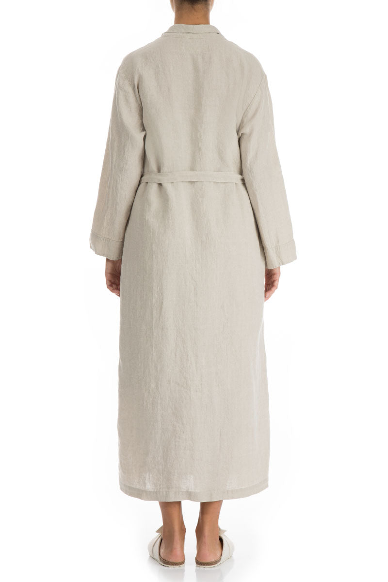 Natural Pure Linen Bathrobe