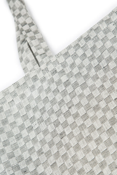 Natural Checkered Linen Bag - GRIZAS | Natural Contemporary Womenswear
