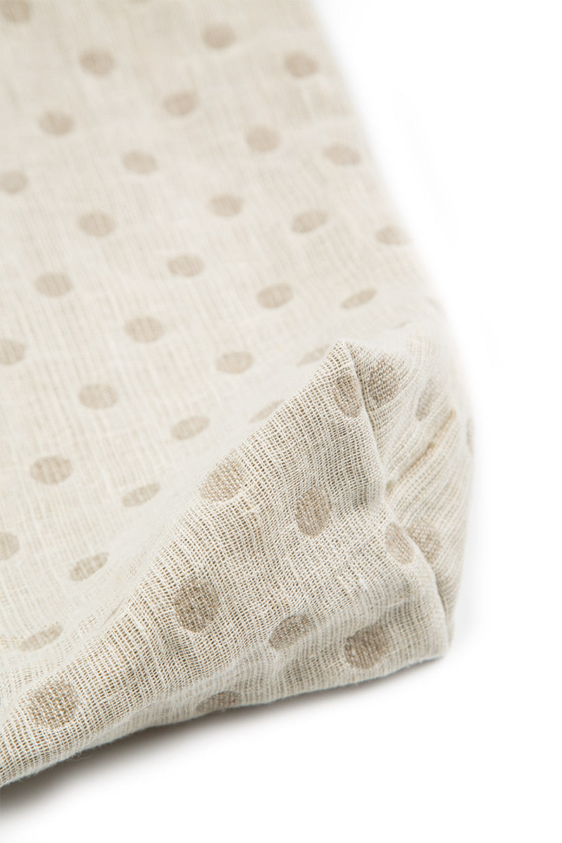 Natural Dotty Linen Bag - GRIZAS | Natural Contemporary Womenswear