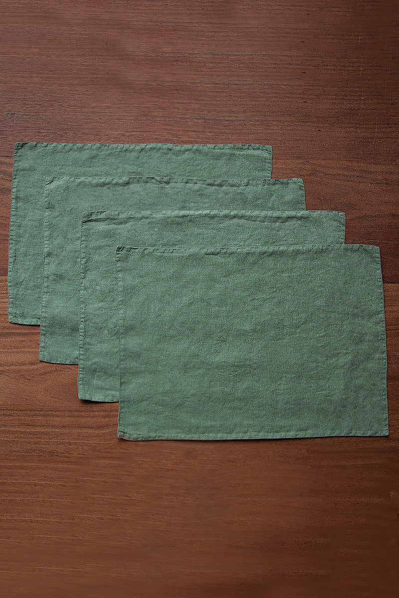 Olive Linen Table Placemats