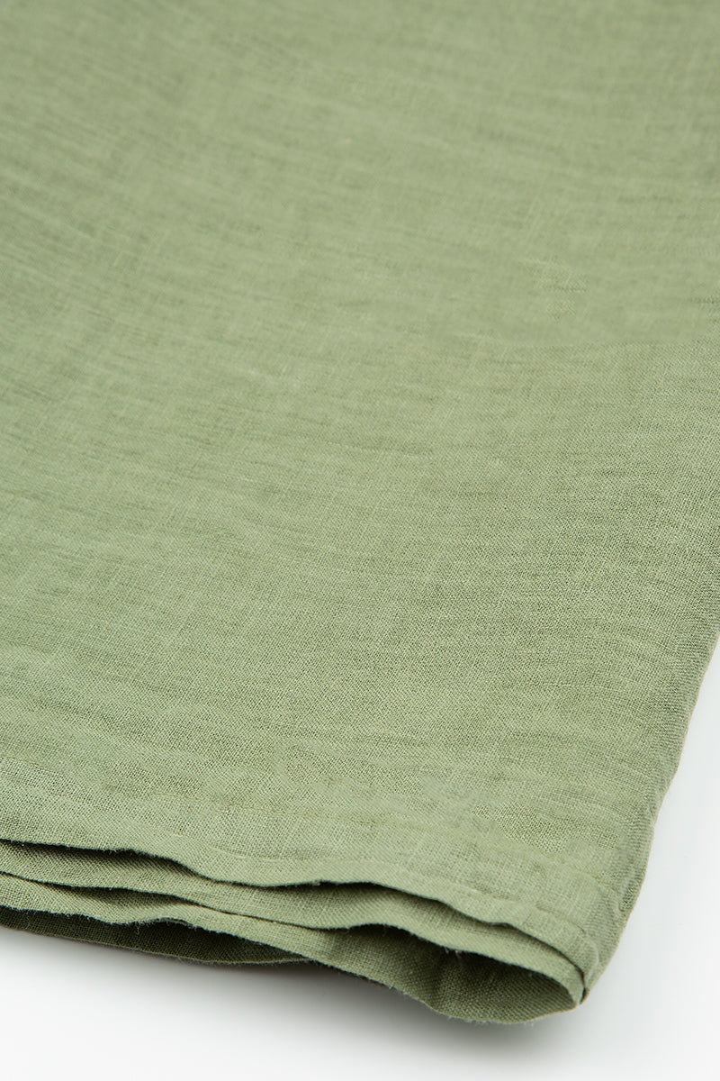 Olive Soft Linen Table Runner