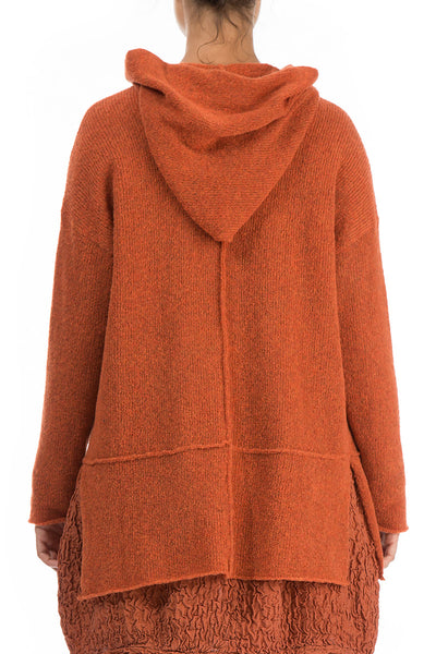 One Button Saffron Wool Sweater