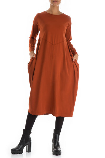 Rust Cotton Dress