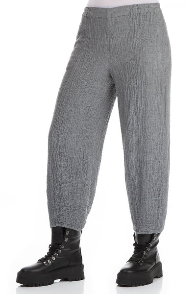 Pencil Grey Wool Trousers