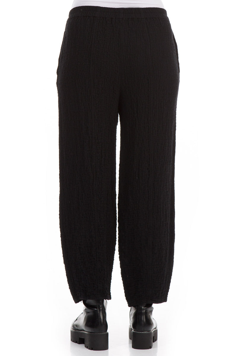 Pencil Black Wool Trousers - GRIZAS | Natural Contemporary Womenswear