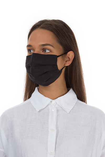 Set Of Pleated Reusable Black Face Masks & Cases €14.99 x 5 Sets
