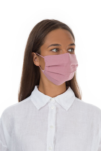 Pleated Reusable Dusty Pink Face Masks €9.99 x 10 PCS