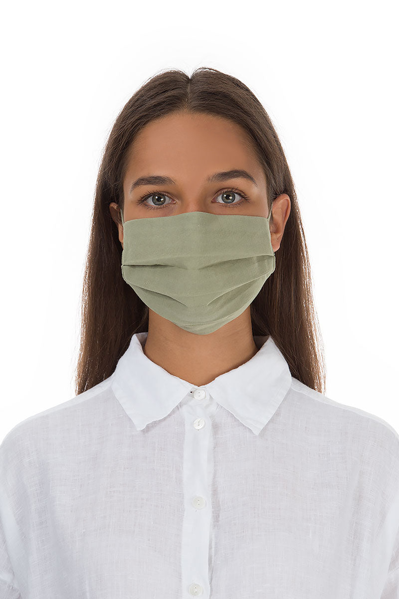 Pleated Reusable Khaki Face Masks €6.99 x 10 PCS
