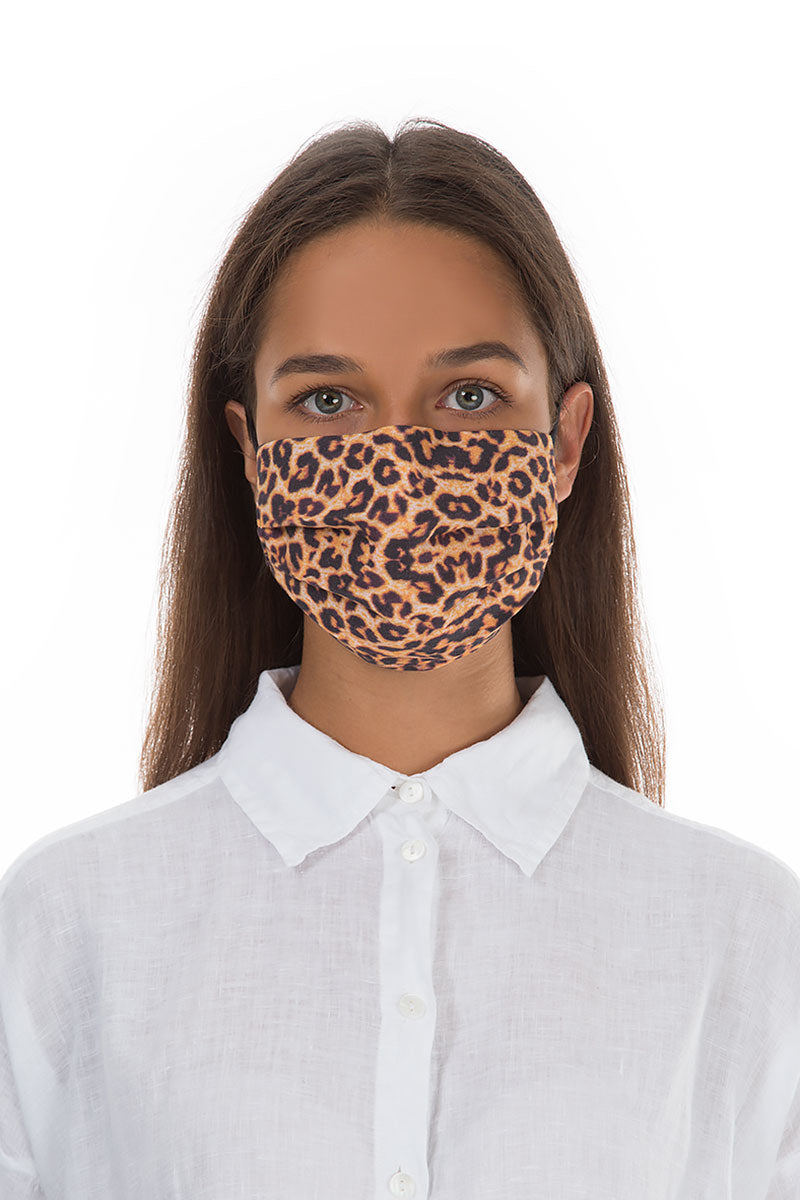 Set Of Pleated Reusable Leopard Print Face Masks & Cases €14.99 x 5 Sets