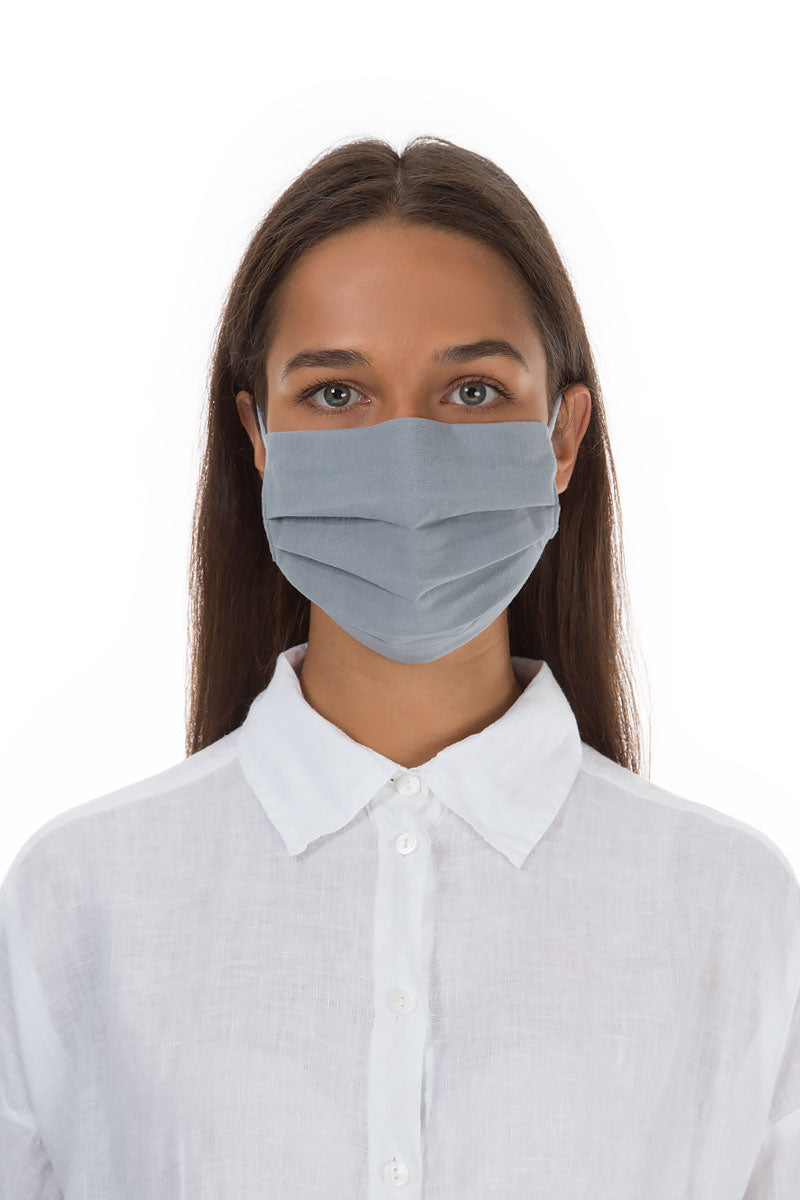 Pleated Reusable Light Grey Face Masks €9.99 x 10 PCS