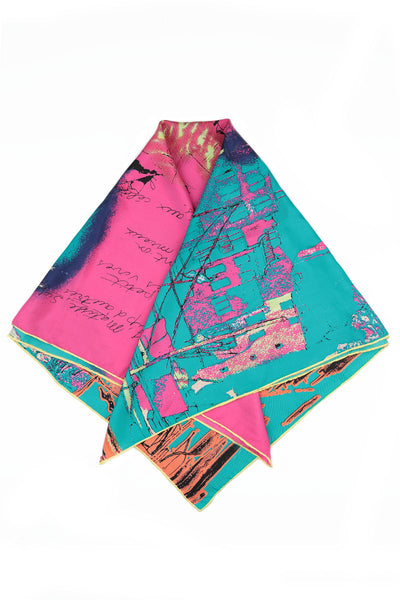 Port Printed Bright Silk Scarf