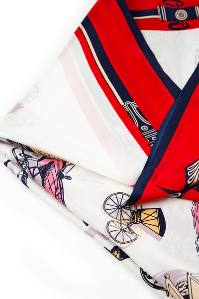 Printed Cute Pure Silk Scarf