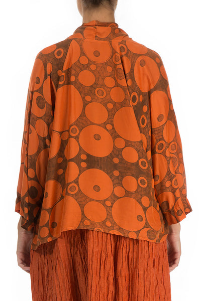 Printed Saffron Bamboo Jacket - GRIZAS | Natural Contemporary Womenswear