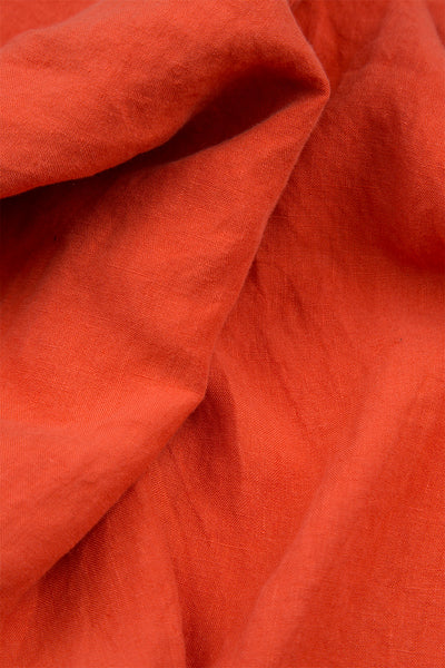 Pure New Orange Linen Trousers - GRIZAS | Natural Contemporary Womenswear
