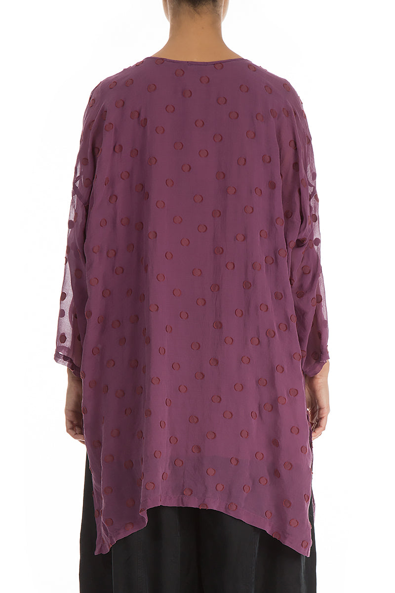 Purple Dotty Silk Tunic