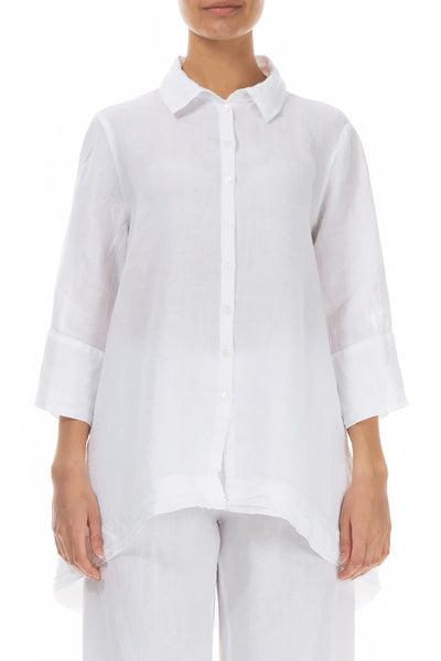 Relaxed White Linen Shirt - GRIZAS | Natural Contemporary Womenswear