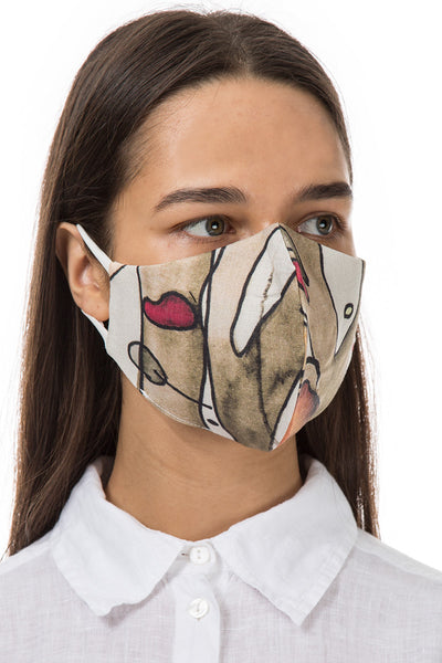 Reusable Abstract Print Protective Masks €4,95 x 20 PCS - GRIZAS | Natural Contemporary Womenswear
