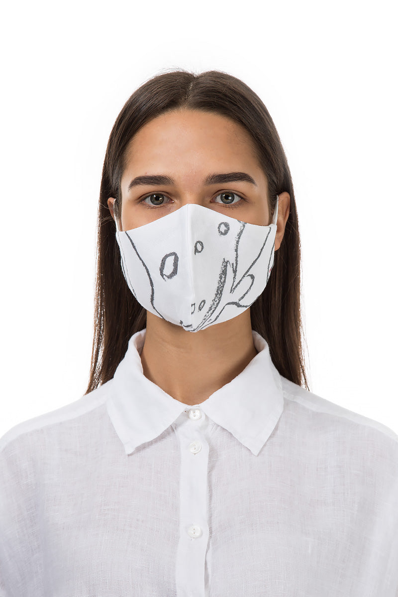 Reusable Pencil Print Protective Masks €4,95 x 20 PCS - GRIZAS | Natural Contemporary Womenswear
