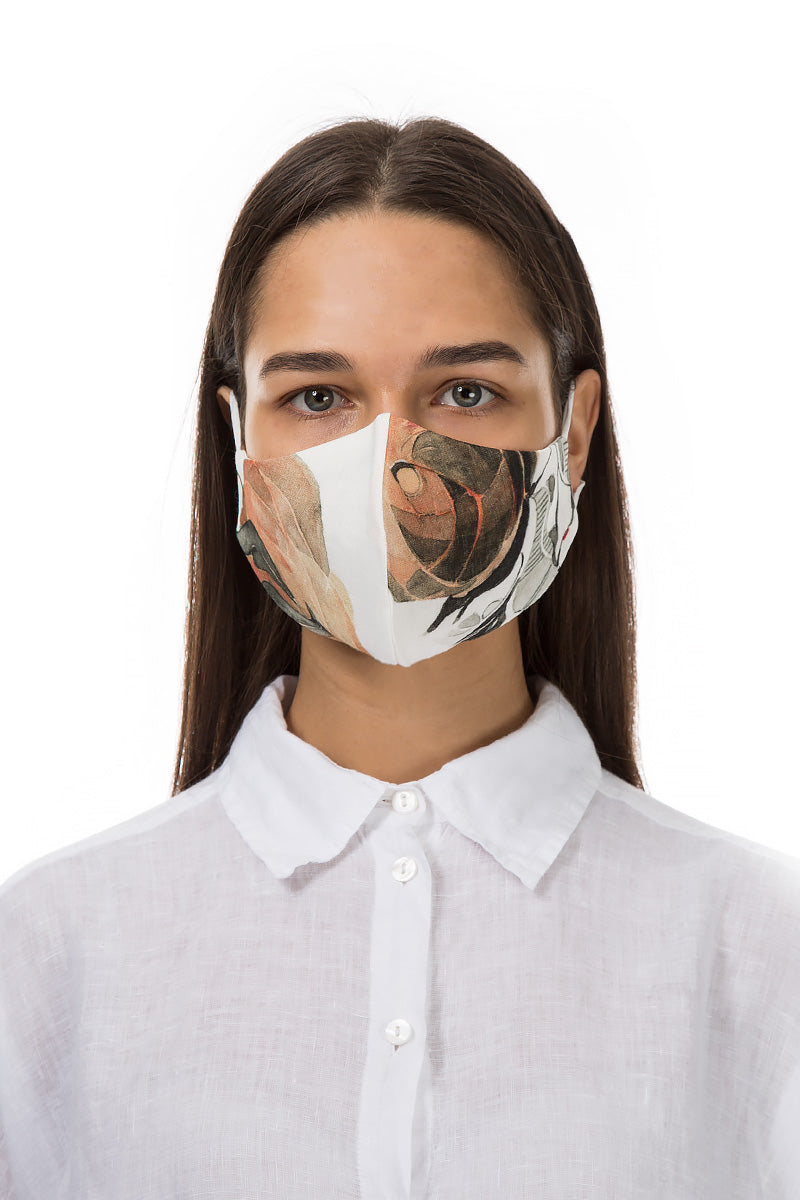 Reusable Apricot Rose Print Protective Masks €4.95 x 20 PCS