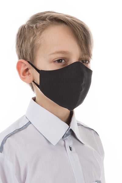 Reusable Black Face Masks For Children