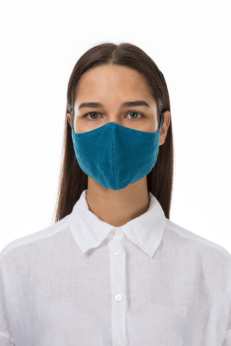 Reusable Turquoise Protective Masks €4,95 x 20 PCS - GRIZAS | Natural Contemporary Womenswear